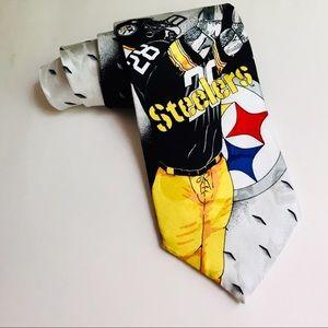 💥Pittsburgh Steelers Men's Tie Yellow & Black